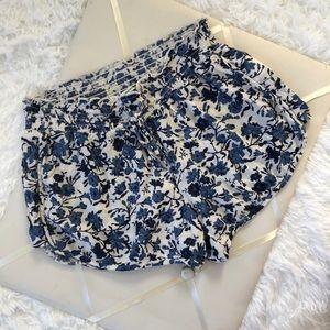 AEO Floral Lightweight Blue Shorts